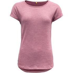 Devold Trollstigen T-shirt zippé Femme, foxglove